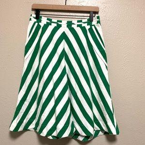 Anthropologie Postmark striped linen blend skirt